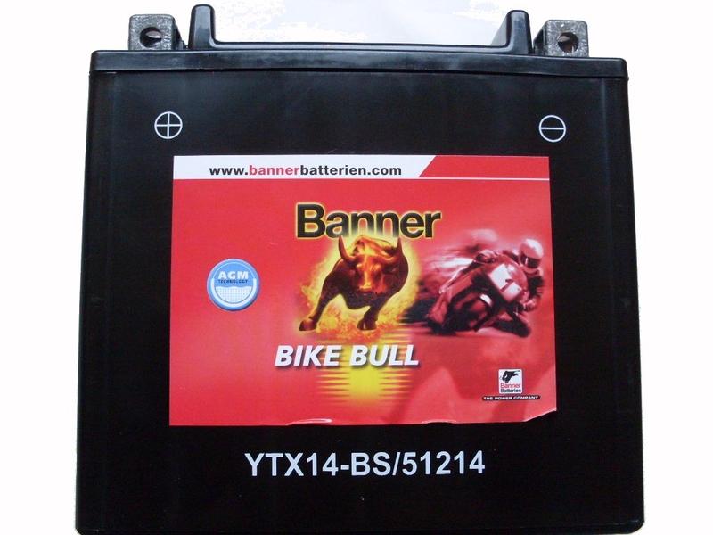 banner batterie ytx14 bs gel 51214 agm power legner autozubeh r. Black Bedroom Furniture Sets. Home Design Ideas