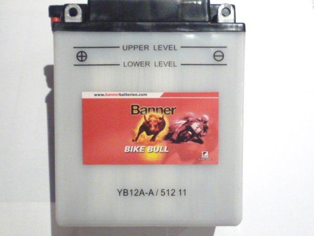 yb12a a banner 12v 12ah motorradbatterie batterie 51211. Black Bedroom Furniture Sets. Home Design Ideas