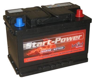 intact startpower autobatterie 12v 74 ah din 57412. Black Bedroom Furniture Sets. Home Design Ideas
